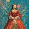 Katherine Of Aragon portrait for Six Tudor Queens by Alison Weir, Headline Publishing Group London 2017-18